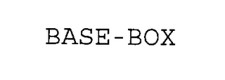 mark for BASE-BOX, trademark #76362699