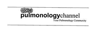 mark for PULMONOLOGYCHANNEL YOUR PULMONOLOGY COMMUNITY, trademark #76364235