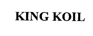 mark for KING KOIL, trademark #76366293