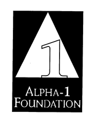 mark for 1 ALPHA-1 FOUNDATION, trademark #76372544