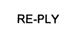 mark for RE-PLY, trademark #76375071
