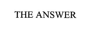 mark for THE ANSWER, trademark #76377026