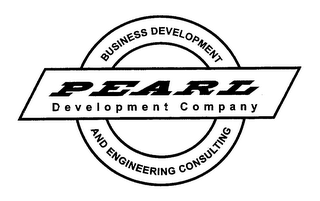 mark for BUSINESS DEVELOPMENT AND ENGINEERING CONSULTING PEARL DEVELOPMENT COMPANY, trademark #76377502