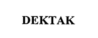 mark for DEKTAK, trademark #76384268