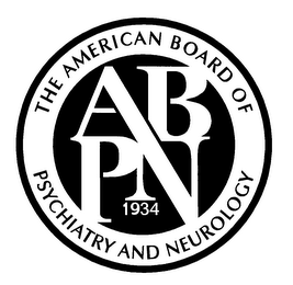 mark for THE AMERICAN BOARD OF PSYCHIATRY AND NEUROLOGY ABPN 1934, trademark #76385364