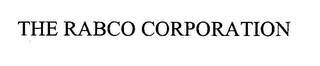 mark for THE RABCO CORPORATION, trademark #76386459