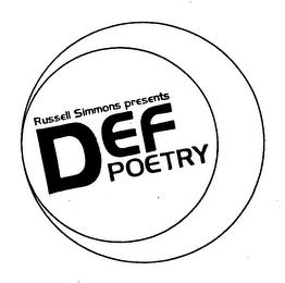 mark for RUSSELL SIMMONS PRESENTS DEF POETRY, trademark #76388538