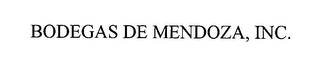 mark for BODEGAS DE MENDOZA, INC., trademark #76390570