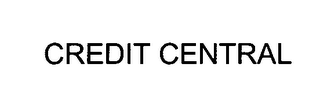 mark for CREDIT CENTRAL, trademark #76391658