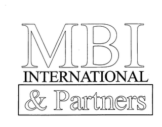 mark for MBI INTERNATIONAL & PARTNERS, trademark #76395446