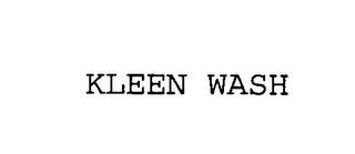 mark for KLEEN WASH, trademark #76396503