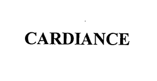 mark for CARDIANCE, trademark #76396683