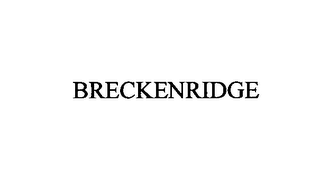 mark for BRECKENRIDGE, trademark #76397071