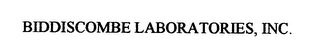 mark for BIDDISCOMBE LABORATORIES, INC., trademark #76400747