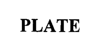 mark for PLATE, trademark #76401051