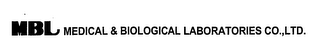mark for MBL MEDICAL & BIOLOGICAL LABORATORIES CO.,LTD., trademark #76403697