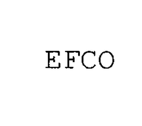 mark for EFCO, trademark #76410927