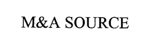 mark for M&A SOURCE, trademark #76414724