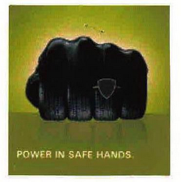 mark for POWER IN SAFE HANDS, trademark #76418972
