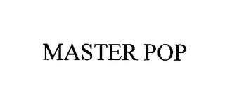 mark for MASTER POP, trademark #76419909