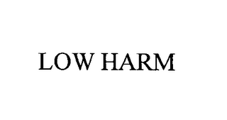 mark for LOW HARM, trademark #76419995