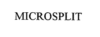 mark for MICROSPLIT, trademark #76427439