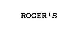 mark for ROGER'S, trademark #76431411