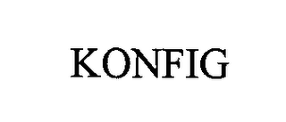 mark for KONFIG, trademark #76431462