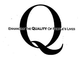 mark for Q ENHANCING THE QUALITY OF PEOPLE'S LIVES, trademark #76445287