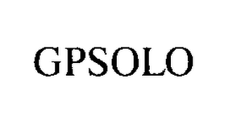 mark for GPSOLO, trademark #76451433