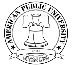 mark for AMERICAN PUBLIC UNIVERSITY OF THE AMERICAN PUBLIC UNIVERSITY SYSTEM, trademark #76454778