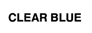 mark for CLEAR BLUE, trademark #76455740