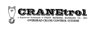 mark for CRANETROL OVERHEAD CRANE CONTROL SYSTEMS A REGISTERED TRADEMARK OF FOLEY MATERIAL HANDLING CO., INC., trademark #76459501