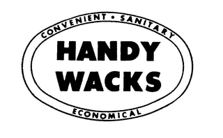 mark for HANDY WACKS CONVENIENT SANITARY ECONOMICAL, trademark #76463261