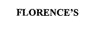 mark for FLORENCE'S, trademark #76465221
