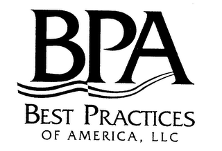 mark for BPA BEST PRACTICES OF AMERICA, LLC, trademark #76468082