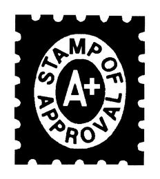 mark for STAMP OF APPROVAL A+, trademark #76468410