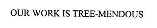 mark for OUR WORK IS TREE-MENDOUS, trademark #76471588