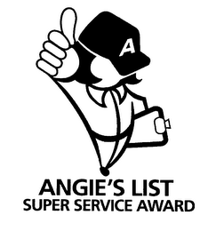 mark for A ANGIE'S LIST SUPER SERVICE AWARD, trademark #76472759