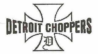 mark for D DETROIT CHOPPERS, trademark #76477001