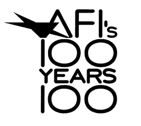 mark for AFI'S 100 YEARS 100, trademark #76479751