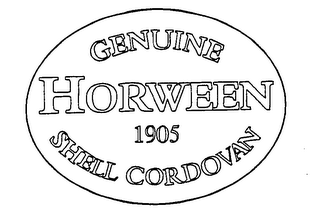 mark for GENUINE HORWEEN SHELL CORDOVAN 1905, trademark #76480035