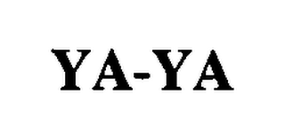 mark for YA-YA, trademark #76481132