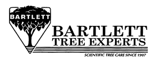 mark for BARTLETT TREE EXPERTS SCIENTIFIC TREE CARE SINCE 1907, trademark #76481697