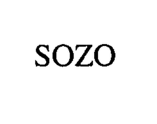 mark for SOZO, trademark #76503588