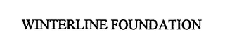 mark for WINTERLINE FOUNDATION, trademark #76512257