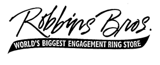 mark for ROBBINS BROS. WORLD'S BIGGEST ENGAGEMENT RING STORE, trademark #76521382