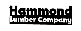 mark for HAMMOND LUMBER COMPANY, trademark #76525305