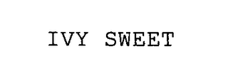 mark for IVY SWEET, trademark #76538384