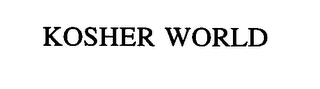 mark for KOSHER WORLD, trademark #76538806